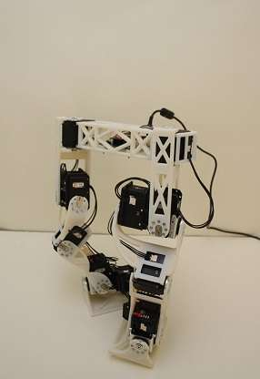 Researchers develop two-legged robot that walks like an animated character