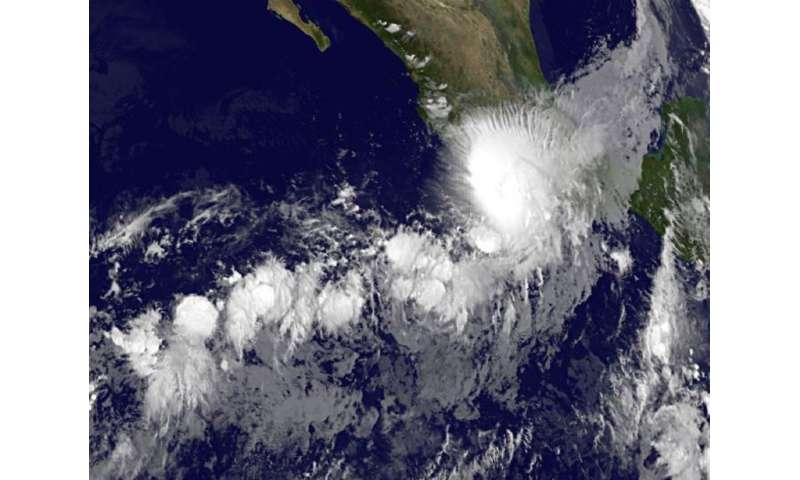 NASA sees Tropical Storm Marty along west coast of Mexico