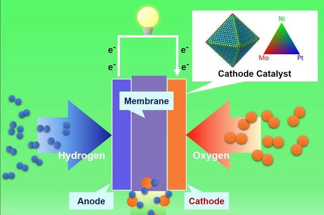 Researchers develop lower-cost, more efficient nanostructure for fuel cells