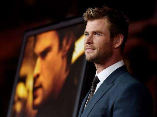 """Actor Chris Hemsworth at the premiere of """"Blackhat"""" at the Chinese Theatre on January 8, 2015 in Los Angeles"""