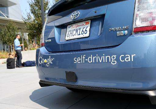 A driverless car in the US. Such cars are being tested in several cities