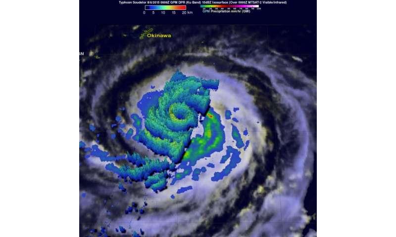 A GPM satellite 'bullseye' in Typhoon Soudelor