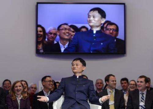 Alibaba founder and executive chairman Jack Ma, pictured here in January, says the e-commerce giant has joined China's biggest a
