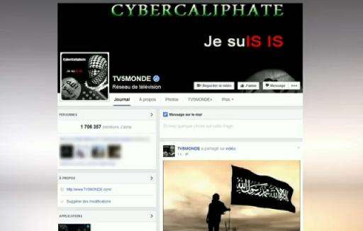 A message that appeared on French television network TV5Monde's Facebook account while it was hacked by individuals claiming to