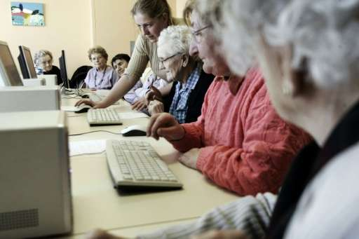 Among people over 65, some 39 percent were not using the Internet, Pew found