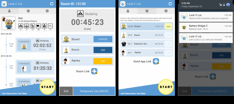An app to digitally detox from smartphone addiction: Lock n' LOL