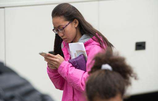 A Pew Research Center survey released Thursday found that 92 percent of US teens go online daily