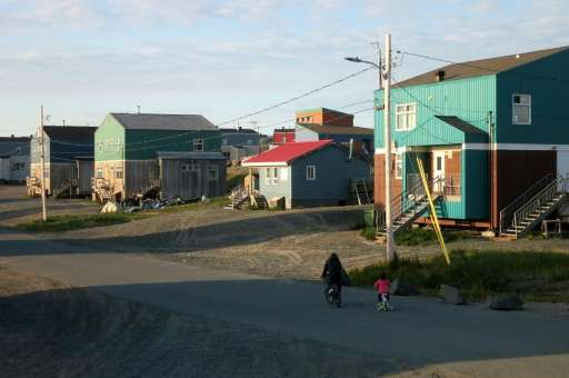 A street in the Inuit village of Umiujaq, in Nunavik territory, Hudson Bay, Quebec