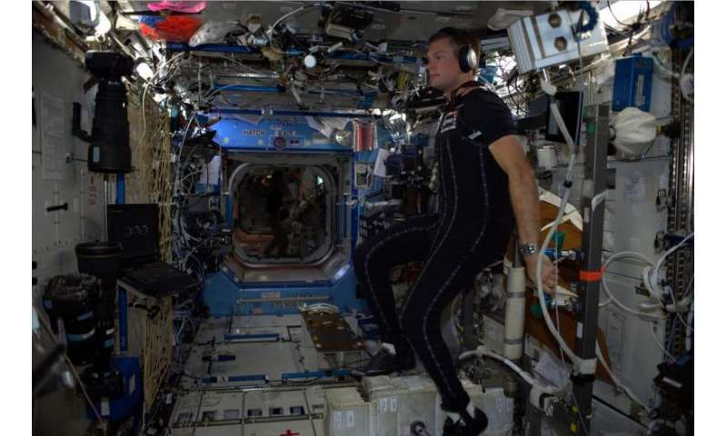 Astronaut trials innovative SkinSuit in space