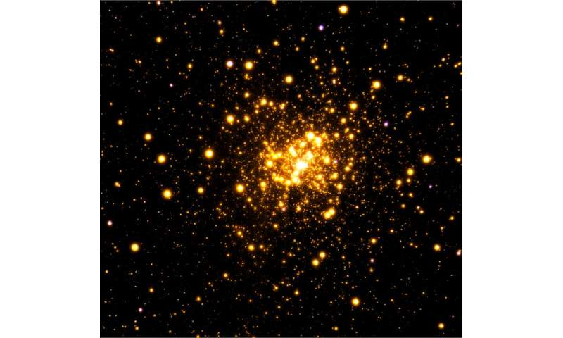 Astronomers image rare stellar cluster Liller 1