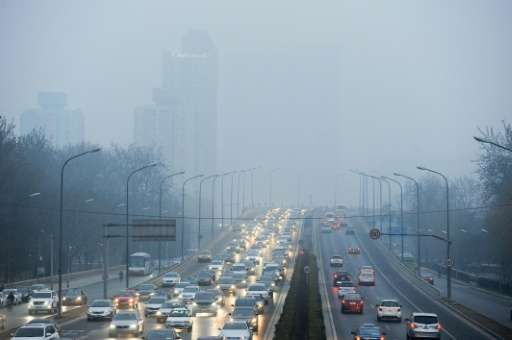 A thick smog hangs over Beijing as pollutant levels rose above safe levels—25-fold at times—forcing city authorities to order a