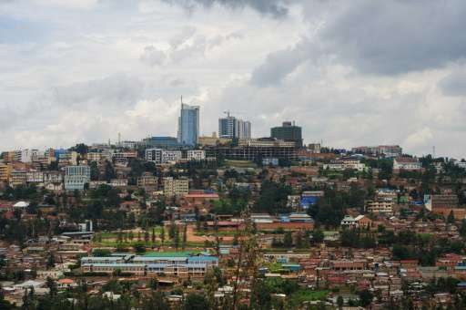 A view of the centre of the Rwandan capital, Kigali, seen in 2014
