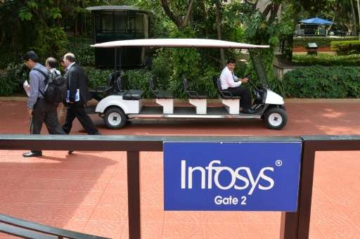 Bangalore-based Infosys is listed in Mumbai and New York and was once seen as the bellwether of India's flagship outsourcing ind