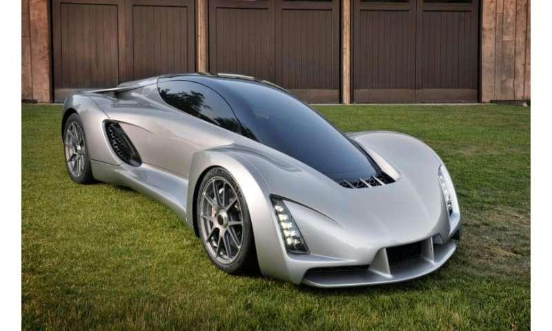 Blade supercar has bi-fuel engine, signifies 3D-print platform