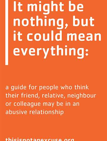 Booklet aims to help friends and relatives of people experiencing domestic abuse