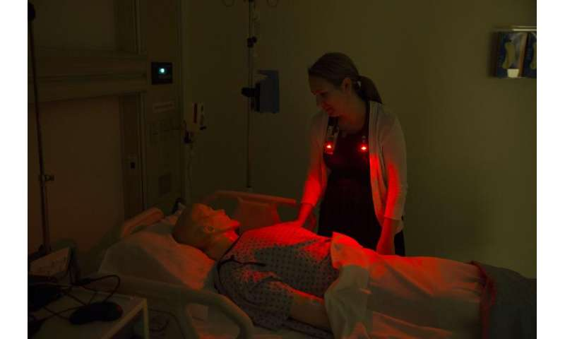 Can something as simple as a colored bulb promote sleep in the hospital?