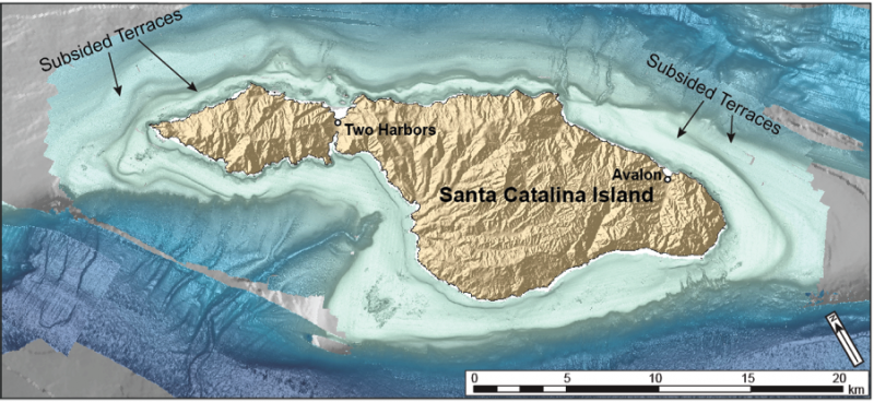 Catalina Island's slow sink -- and potential tsunami hazard