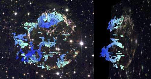 CAT scan of nearby supernova remnant reveals frothy interior