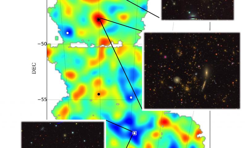 Dark Energy Survey creates detailed guide to spotting dark matter