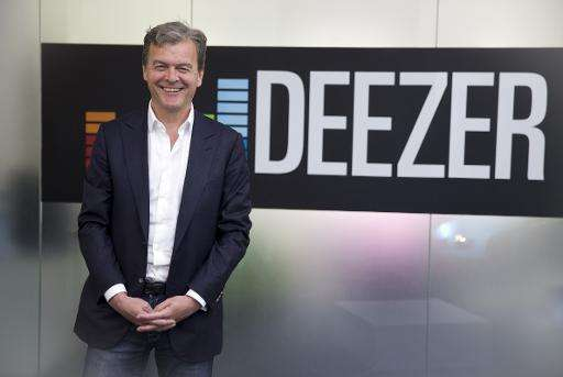 Deezer CEO Hans-Holger Albrecht at the music streaming company's office in London on May 19, 2015