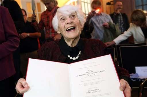 Denied under Nazis, 102-year-old Jewish woman gets doctorate
