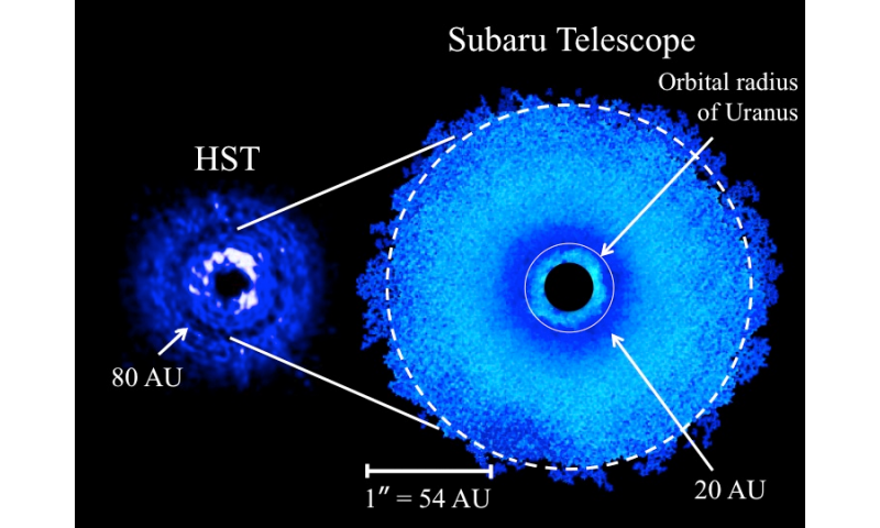 Discovery of multiple ring-like gaps in a protoplanetary disk