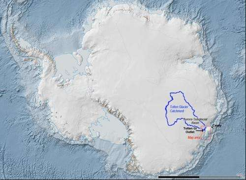East Antarctica melting could be explained by oceanic gateways