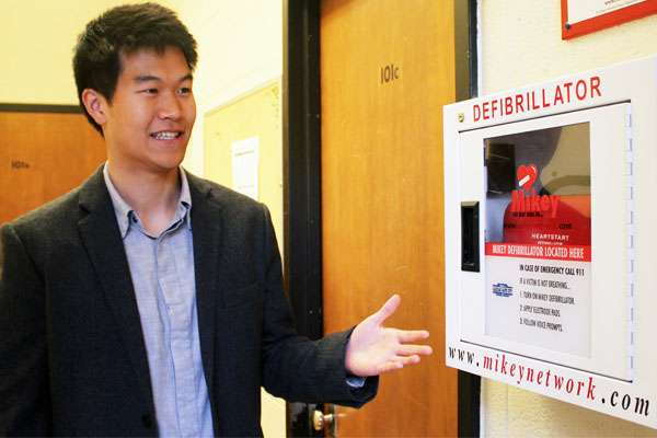 Ensuring defibrillators are accessible where heart attacks are most likely to happen