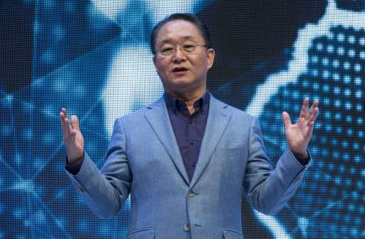 Eom Young-Hoon, President and CEO of Samsung Electronics Europe speaks during Samsung's presentation at the 55th IFA (Internatio