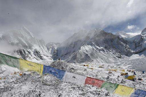 Everest Base Camp shown on April 26, 2015, a day after an avalanche triggered by an earthquake caused the death of 18 people