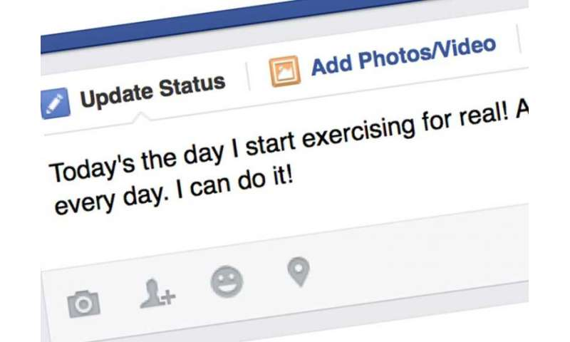 Exercise-related Facebook updates are a two-edged sword