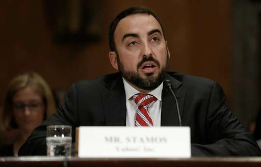 "Facebook chief security officer Alex Stamos, pictured May 15, 2014, said in a blog post, ""Starting today, we will notify yo"