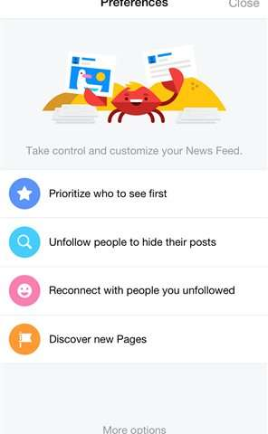 Facebook makes it easier to tweak what you see in your feed