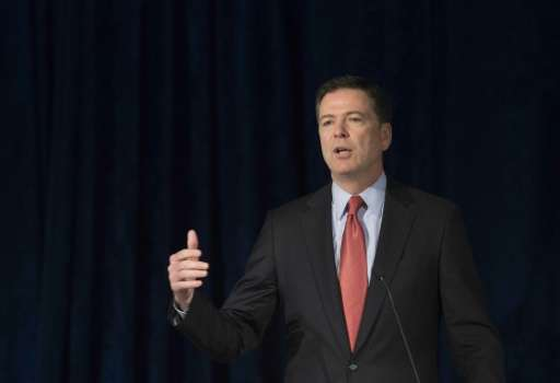 Federal Bureau of Investigation Director James Comey addresses the American Law Institute's annual meeting in Washington, DC on
