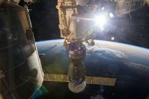 File picture from NASA shows the Soyuz TMA-15M vehicle docked with the International Space Station