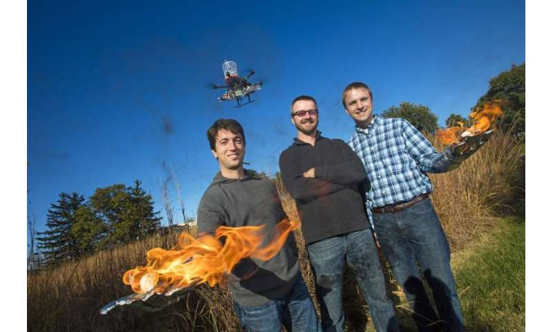 Fire-starting drone could aid grassland conservation efforts, fire prevention