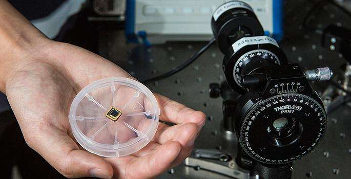 First circularly polarized light detector on a silicon chip
