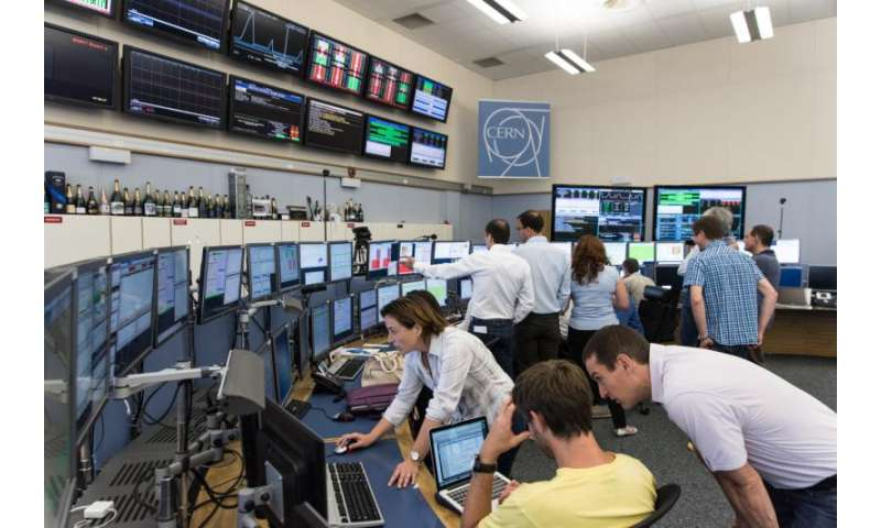 First technical stop for the LHC