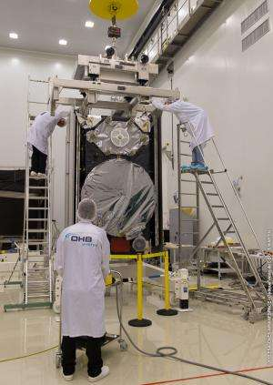 Galileo satellites ready for fuelling as launcher takes shape