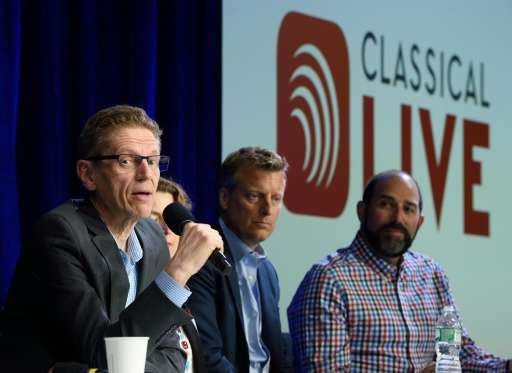 Gary Hanson, executive director of the Cleveland Orchestra, announces the launch of Classical Live on Google Play Music at a new