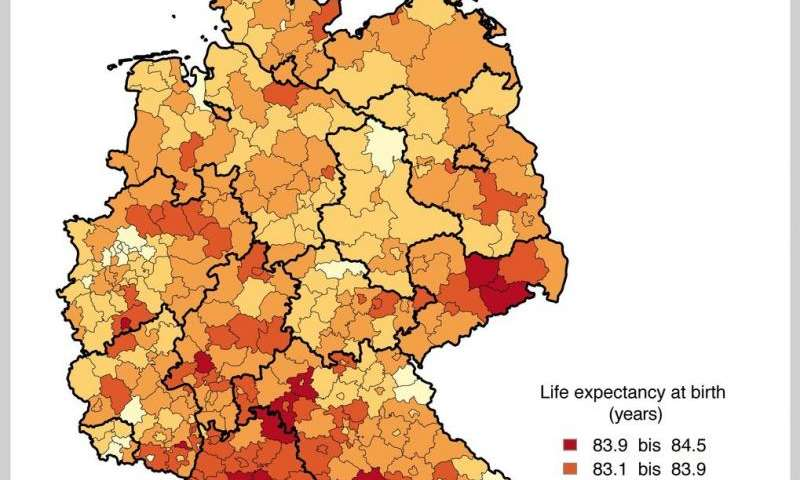 GermanyEastwest divide in life expectancy almost overcome
