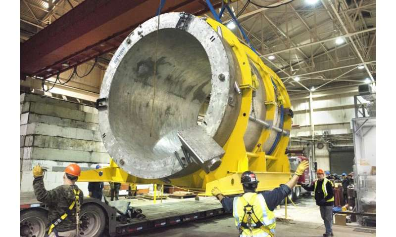 Giant electromagnet arrives at Brookhaven Lab to map melted matter