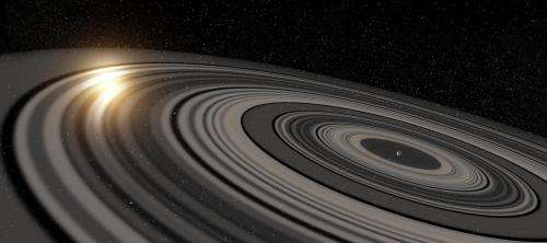 Gigantic ring system around J1407b much larger, heavier than Saturn's