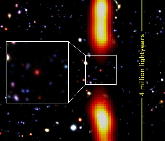 GMRT discovers a dying, giant radio galaxy 9 billion light years away!