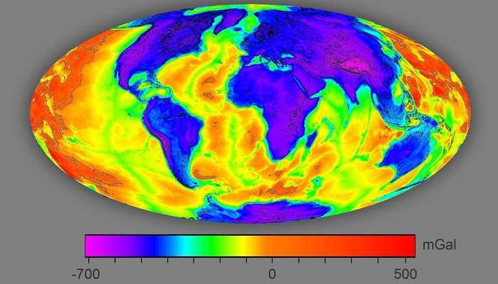 Gravity Satellite Produces Maps For Geothermal Energy Development - World map online satellite 2015