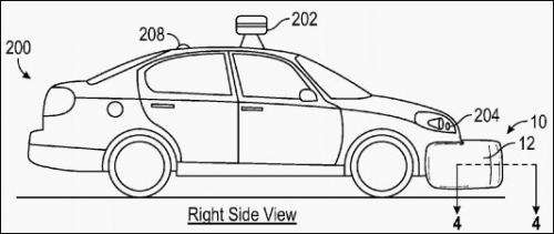 Google patent focuses on pedestrian protection in vehicle impact