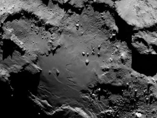 Handout file photo released by the European Space Agency shows a close up detail on comet 67P/Churyumov-Gerasimenko, taken by Ro