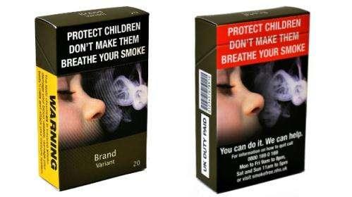 Health warnings clearer on plain cigarette packs
