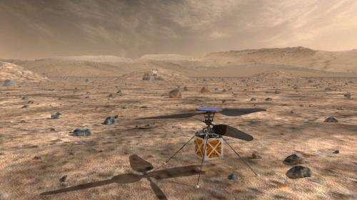 Helicopter drones on Mars