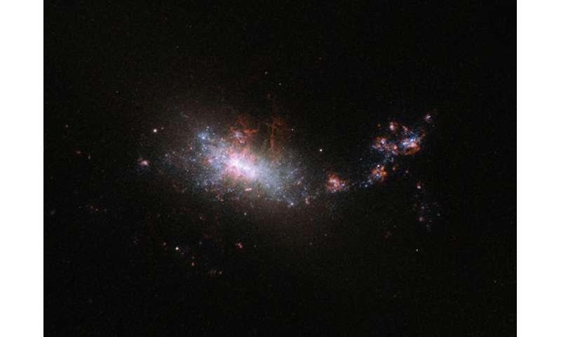 Hubble looks in on a galactic nursery